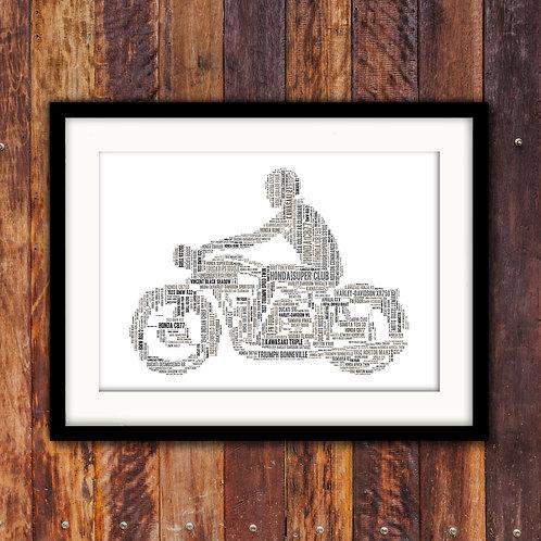 Vintage Motorbikes Wall Art Print: €10 - €55