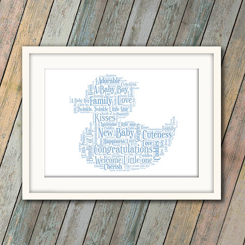 New Baby Boy Duck Wall Art Print: €10 - €55