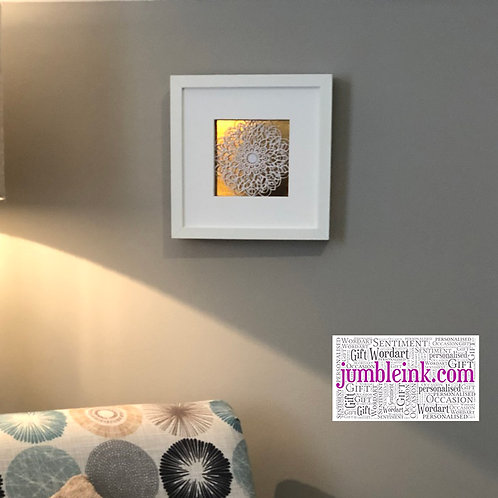 Mandala Gold Shadow Box, with LEDs and Gold Mirror Back: €35 - €40
