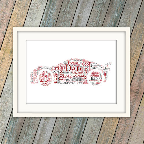 Father's Day Car Wall Art Print: