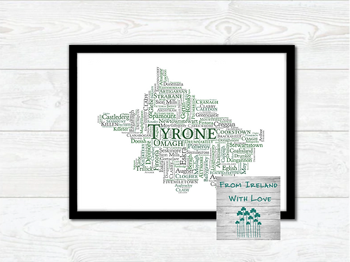 County Tyrone Towns Wall Art Print: