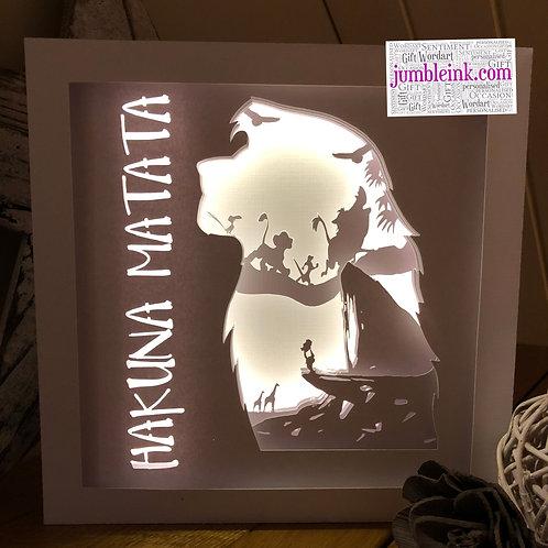 €5.50 - The Lion King - Square 3D Paper Cut Template Light Box SVG
