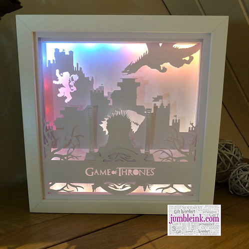 €5.50 - Game of Thrones - 3D Paper Cut Template Light Box SVG