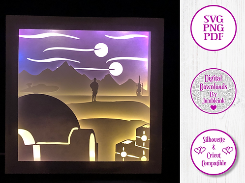 €5.50 - Star Wars IV  - 3D Paper Cut Template Light Box SV