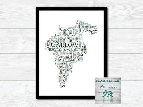 County Carlow Towns Wall Art Print:
