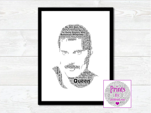 Freddie Mercury Queen Wall Art Print: €10 - €55