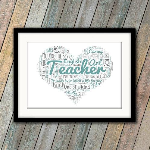 Teacher Heart: €25 - €55