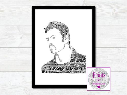 George Michael Wall Art Print: