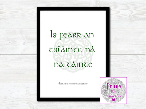 Irish Proverb Wall Art Print: