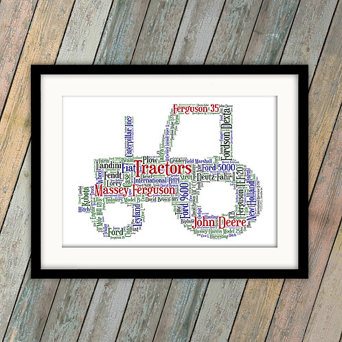 Who Loves Their Tractors Wall Art Print: