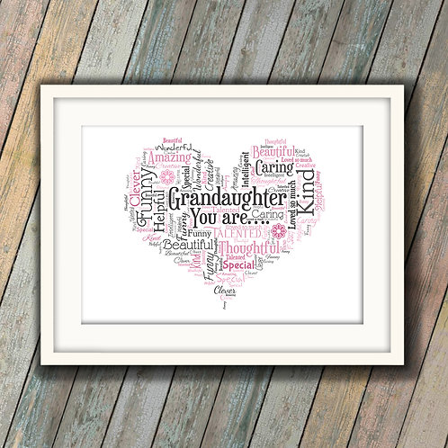For That Special Grandaughter Wall Art Print: €10 - €55