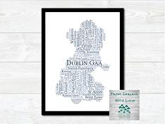 Dublin GAA Clubs Wall Art Print Irl.png
