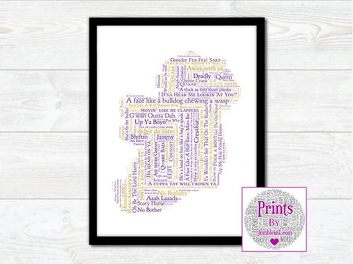 Wexford For the Craic Map Wall Art Print: