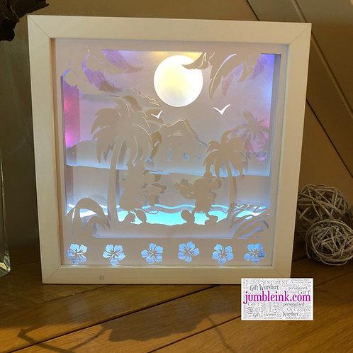 €5.50 - Mickey & Minnie - 3D Paper Cut Template Light Box SVG