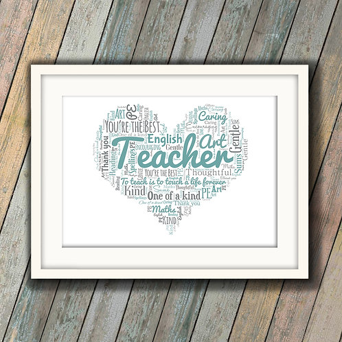 Gift For That Special Teacher Wall Art Print: €10 - €55