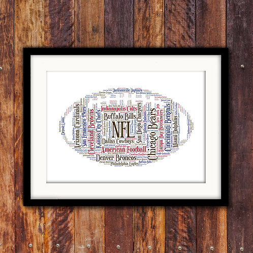 American Football Wall Art Print: