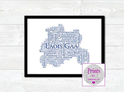 Laois GAA Clubs Wall Art Print: