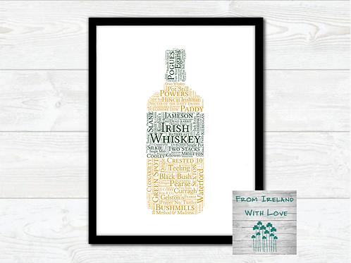 Irish Whiskey Wall Art Print: