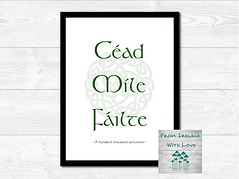 Cead Mile Failte Wall Art Print IRL.png