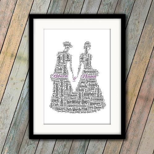 Wedding Brides Wall Art Print: