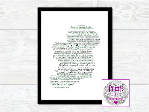 Oscar Wilde Map Wall Art Print: €10 - €55