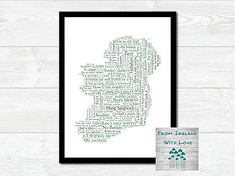 For The Craic Map Of Ireland Print Irl.p