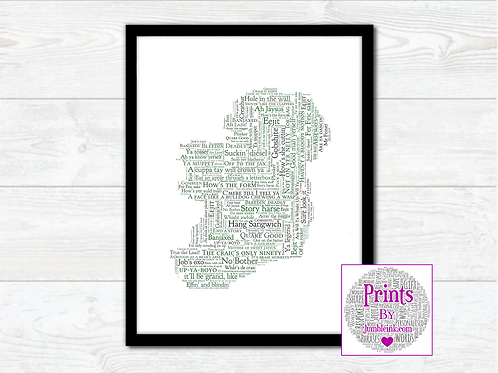 For the Craic Map Wall Art Print: €10 - €55