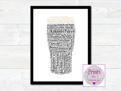 Pint of Kilkenny Pubs Wall Art Print: