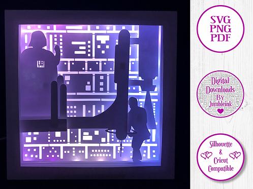€5.50 - Star Wars V  - 3D Paper Cut Template Light Box SV