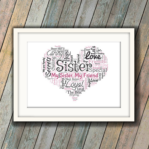 For Your Sister Wall Art Print: €10 - €55