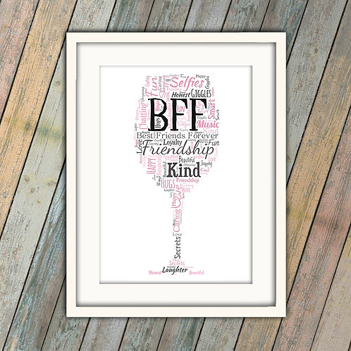 BFF Best Friends Forever Glass Wall Art Print: €10 - €55