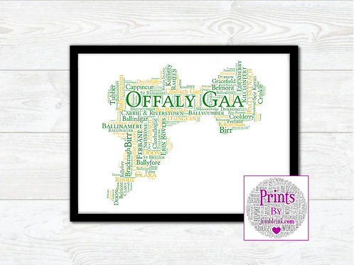 Offaly GAA Clubs Wall Art Print: