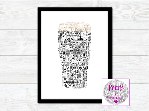 Pubs of Ireland Wall Art Print: €10 - €55