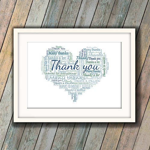 Just To Say Thank You Wall Art Print: