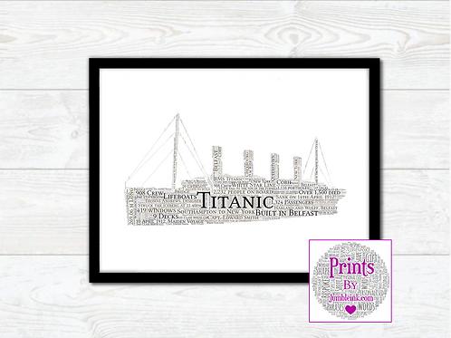 Titanic Wall Art Print: