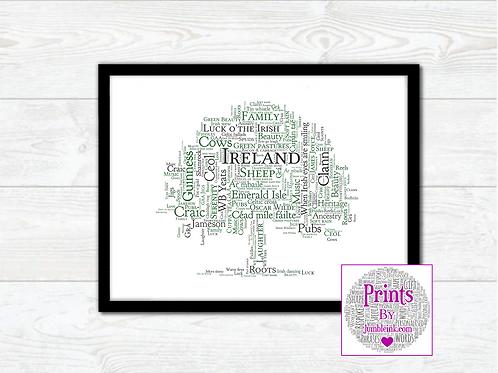 All Things Irish Oak Tree Wall Art Print: €10 - €55