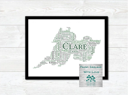 County Clare Towns Wall Art Print: