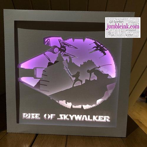 €5.50 - Starwars Rise of Skywalker - 3D Paper Cut Template Light Box SVG Digital