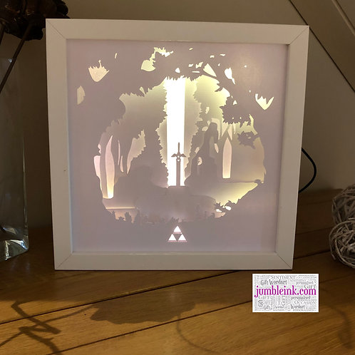 Zelda Master Sword - 3D Paper Cut Template Light Box SVG Digi