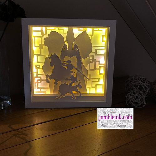 Legend of Zelda - 3D Paper Cut Template Light Box SVG Digi