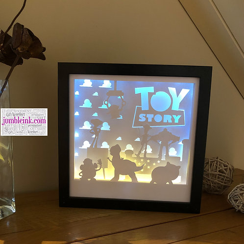 €5.50 - Toy Storey - 3D Paper Cut Template Light Box SVG