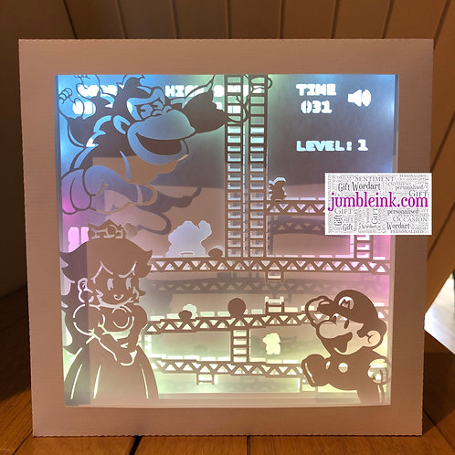 €5.50 - Mario - 3D Paper Cut Template Light Box SVG