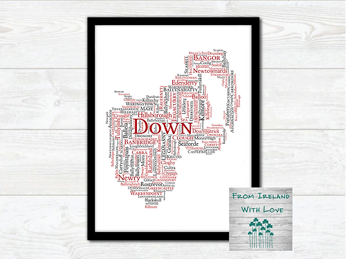 County Down Towns Wall Art Print: