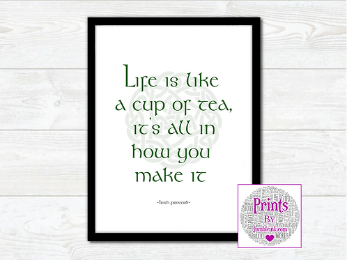 Irish Proverb Wall Art Print: €10 - €55