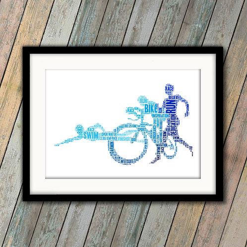 Triathlon Wall Art Print: €10 - €55