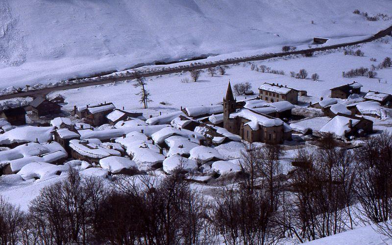 Bonneval-sur-Arc en hiver...