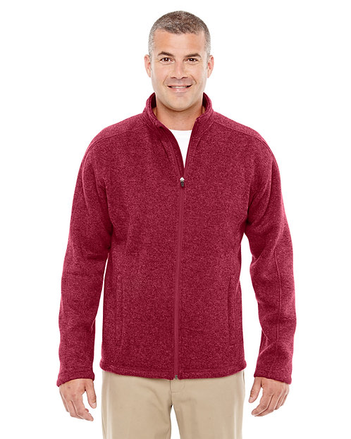 DG793 Devon & Jones Men's Bristol Full-Zip Sweater Fleece Jacket
