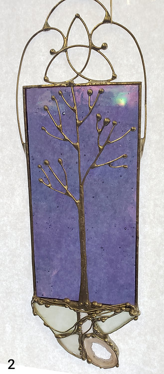 Hand-made Glass Trinity Knot Tree Window Ornament