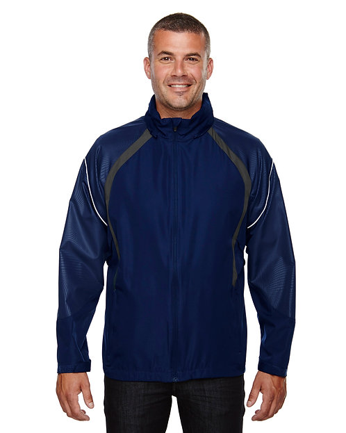 88168 Ash City - North End Men's Sirius Lightweight Jacket with Embossed Pr