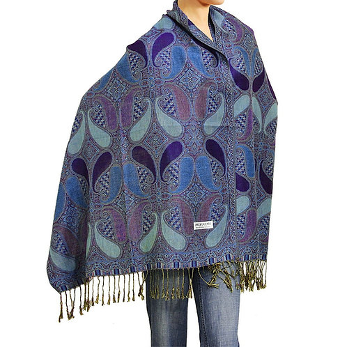Purple/Blue Pashmina Scarf